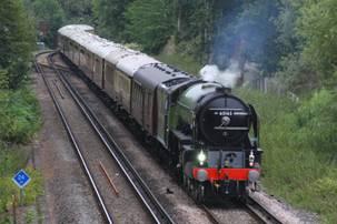 Steam Locos through Virginia Water <> Photos: Alan Bostock